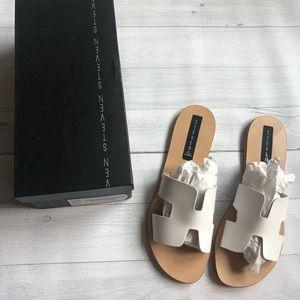 """Steve Madden """"Greece"""" Sandals White"""